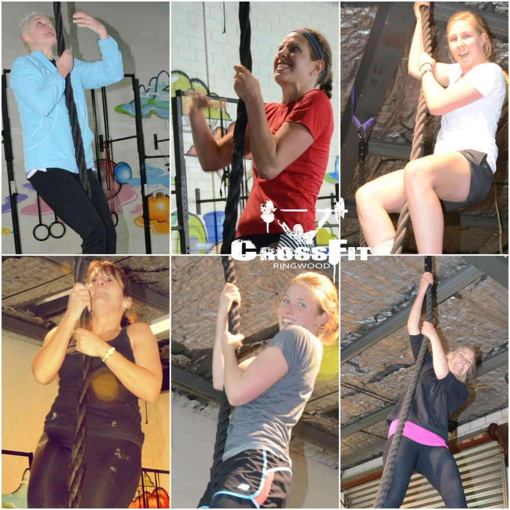 Girls Rope Climb