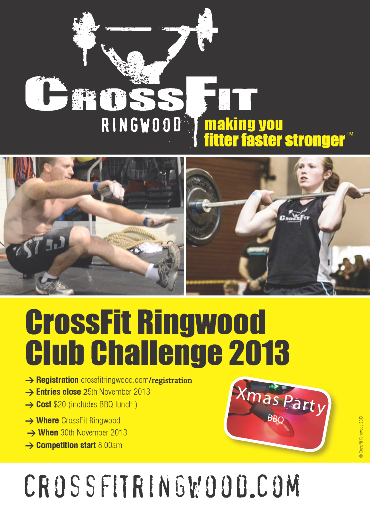 Crossfit Ringwood A5 flyer club comp 10-13 V2